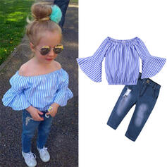 3-pieces Toddler Girl Striped Sets