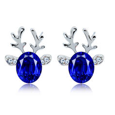 Attractive Charming Artistic Animal Alloy Acrylic With Rhinestones Women's Earrings (Set of 2)