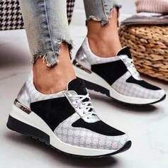 Women's PU Others Flats High Top Round Toe Sneakers With Lace-up shoes