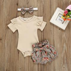 3-pieces Baby Girl Bowknot Floral Cotton Set