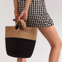 Fashionable/Splice Color/Braided Tote Bags/Beach Bags