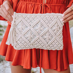 Refined/Bohemian Style/Braided Crossbody Bags/Beach Bags