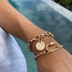 Vintage Layered Alloy With Coin Women's Bracelets 2 PCS