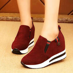 Women's PU Others Low Top Slip On With Elastic Band Solid Color shoes