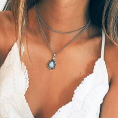 Charming Delicate Alloy With Gem Women's Ladies' Girl's Necklaces
