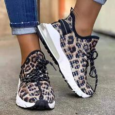Women's Suede Flat Heel Sneakers With Lace-up shoes