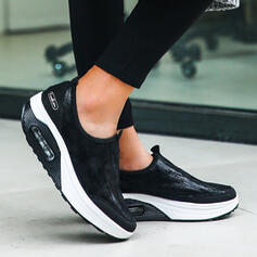 Women's PU Flat Heel Sneakers With Solid Color shoes