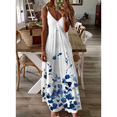 Print/Floral Sleeveless A-line Slip/Skater Casual/Vacation Maxi Dresses