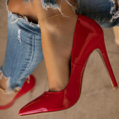 Women's PU Stiletto Heel Pumps Closed Toe Pointed Toe With Solid Color shoes