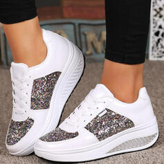 Women's PU Others Flats Sneakers With Sequin Lace-up shoes