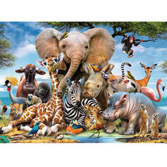 Animal Card Paper Christmas Ornements Puzzle