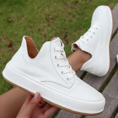 Women's Microfiber Flat Heel Flats Ankle Boots High Top Loafers Sneakers Slip On With Solid Color shoes