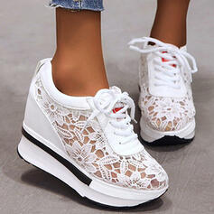 Women's PU Others Flats With Hollow-out Flower Solid Color shoes