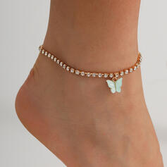Fashionable Vintage Cool Rhinestones With Butterfly Women's Ladies' Anklets 1 PC