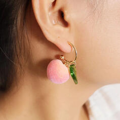 Lovely Cloth Alloy With Fruit Women's Earrings 2 PCS