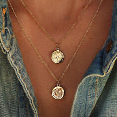 Vintage Alloy With Star Moon Coin Sun Necklaces (Set of 2)