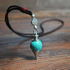 Exquisite Chic Charming Fox Attractive Alloy Turquoise With Imitation Stones Women's Ladies' Girl's Necklaces