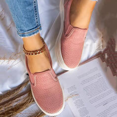 Women's Cloth Flat Heel Flats Round Toe With Patchwork shoes