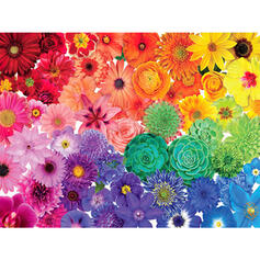 Colourful Floral Card Paper Christmas Ornements Puzzle