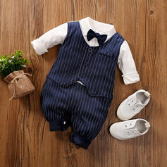 Baby Boy Bow Striped Cotton One-piece