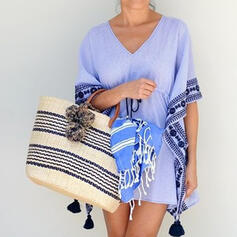 Vintga/Stripe/Braided Tote Bags/Beach Bags
