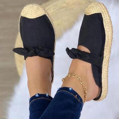 Women's Leatherette Flat Heel Sandals Flats Slingbacks Slippers Round Toe With Bowknot Hollow-out Solid Color shoes