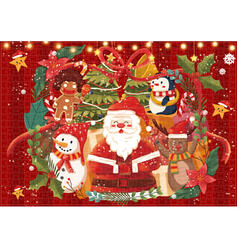 Christmas Santa Card Paper Christmas Ornements Puzzle