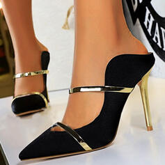 Women's Satin Stiletto Heel Pumps Heels Pointed Toe With Splice Color shoes
