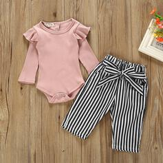 2-pieces Baby Girl Striped Cotton Set