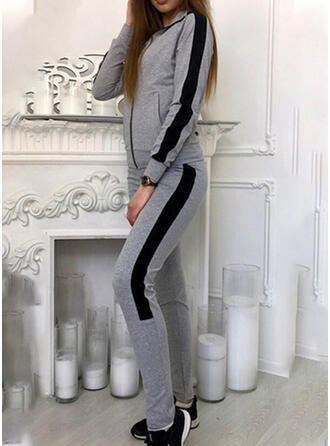 Patchwork Casual Sporty Suits