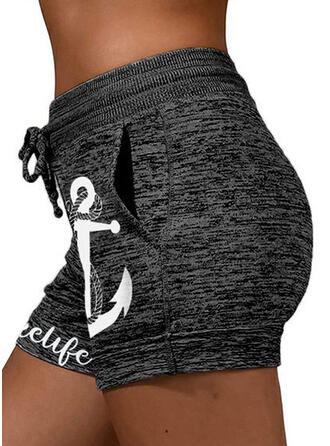 Print Casual Sporty Shorts