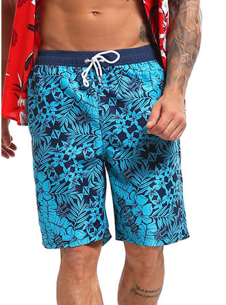 Men's Lined Drawstring Board Shorts