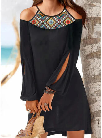 Floral Round Neck Classic Cover-ups Swimsuits