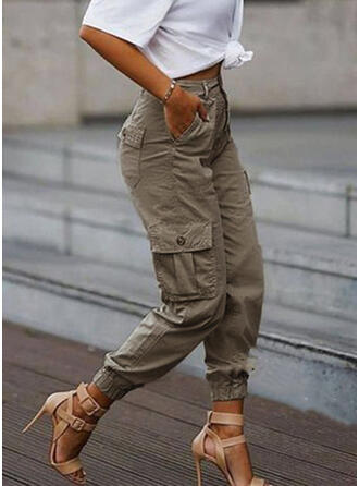 Pockets Plus Size Camouflage Cropped Casual Tribal Pants