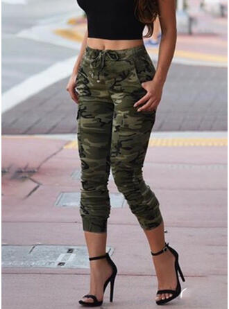 Pockets Plus Size Camouflage Sexy Vintage Pants