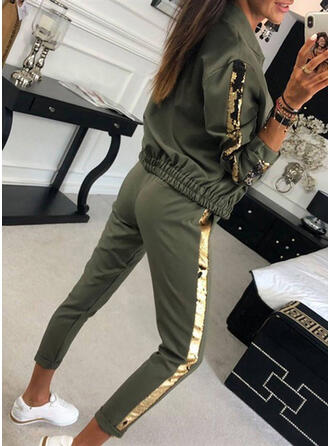 Animal Print Patchwork Casual Sexy Sporty Suits