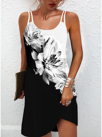 Print/Floral/Color Block Sleeveless Shift Above Knee Casual Slip Dresses