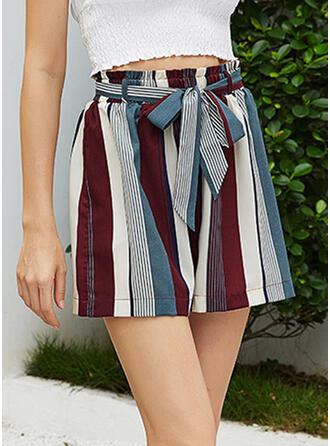 Striped Patchwork Casual Striped Shorts