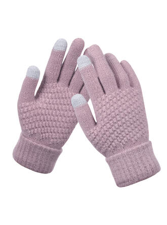 Solid Color/Crochet fashion/Comfortable/Fingers Gloves