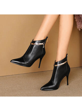 Women's PU Stiletto Heel Pumps Ankle Boots Heels Pointed Toe With Others shoes