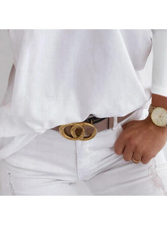 O-ring Buckle Alloy Leatherette Ladies' Unisex Girl's Belts