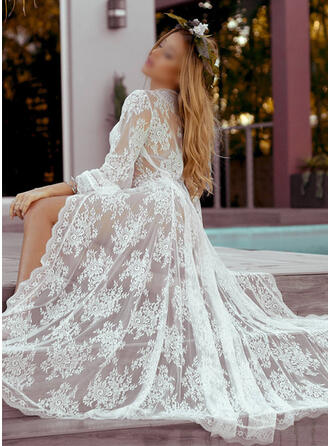 Lace Lace Long Sleeves Sexy Cover Up