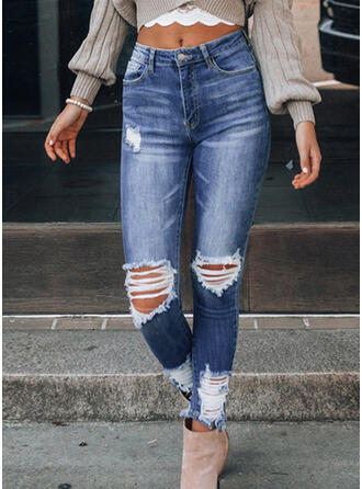 Ripped Sexy Vintage Denim & Jeans