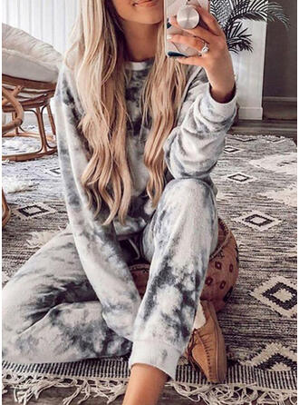 Tie Dye Casual Sporty Stretchy Suits