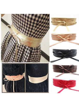 Simple Charming Artistic Delicate PU With Butterfly Breathable Minimalist Women's Wide Belt