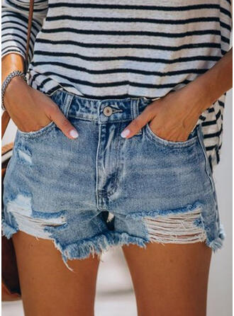 Ripped Tassel Casual Sexy Shorts Denim & Jeans
