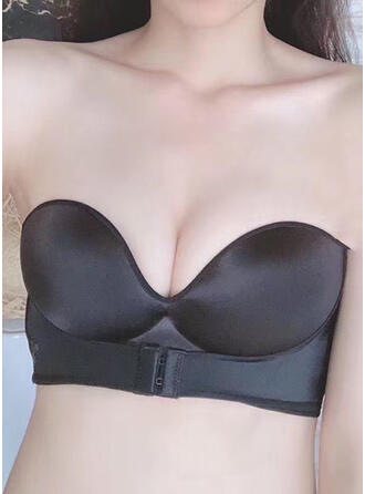 Plain Sexy Solid Sport Non-padded Strapless Bra