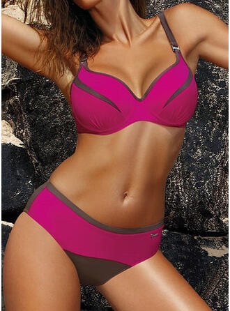 Solid Color Low Waist Strap Fashionable Beautiful Bikinis Swimsuits